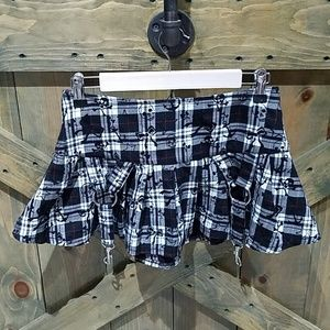 🌻 HOT TOPIC GHOSTS AND ANGELS BLACK  PLAID SKIRT